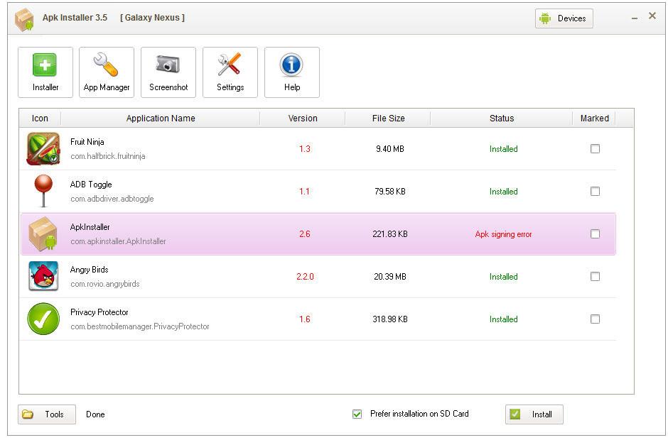 Full ApkInstaller for PC screenshot