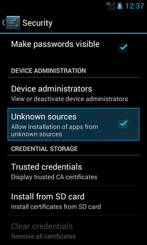 android enable unknown sources